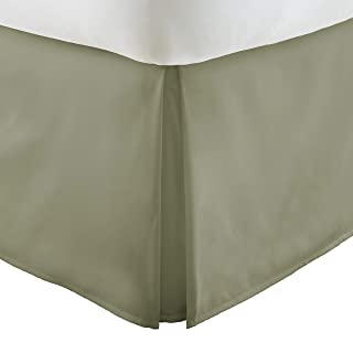 "Hotel Collection Italian Luxury Hotel Bed Skirt 14"" Drop Microfiber, Sage, Full"