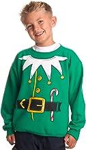 Kid's Santa's Elf Costume | Novelty Christmas Sweater, Holiday Child Sweatshirt