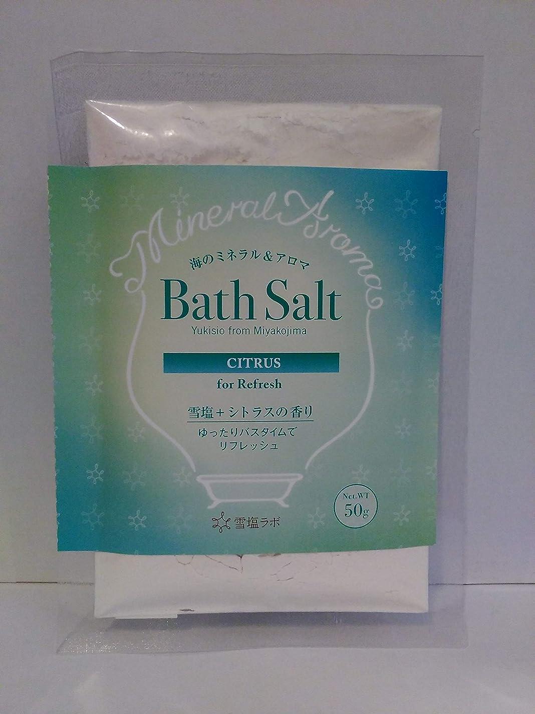 定刻代表する胆嚢海のミネラル&アロマ Bath Salt 雪塩+シトラスの香り