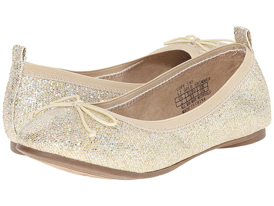 Kenneth Cole Reaction Kids Copy Tap (Little Kid/Big Kid) (Light Gold Sparkle) Girls Shoes