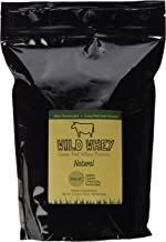 Wild Whey Grass-Fed Protein, Nondenatured Low Carb Cold Process, GMO-Free, Gluten-Free, rBGH-Free, Keto Friendly, Made in U.S.A (Natural/Unflavored - Bulk 2.5 Pound)