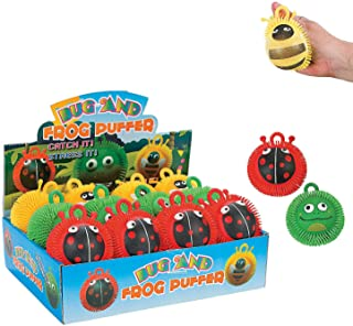 BUG AND FROG PUFFER ASSORTMENT - Toys - 12 Pieces