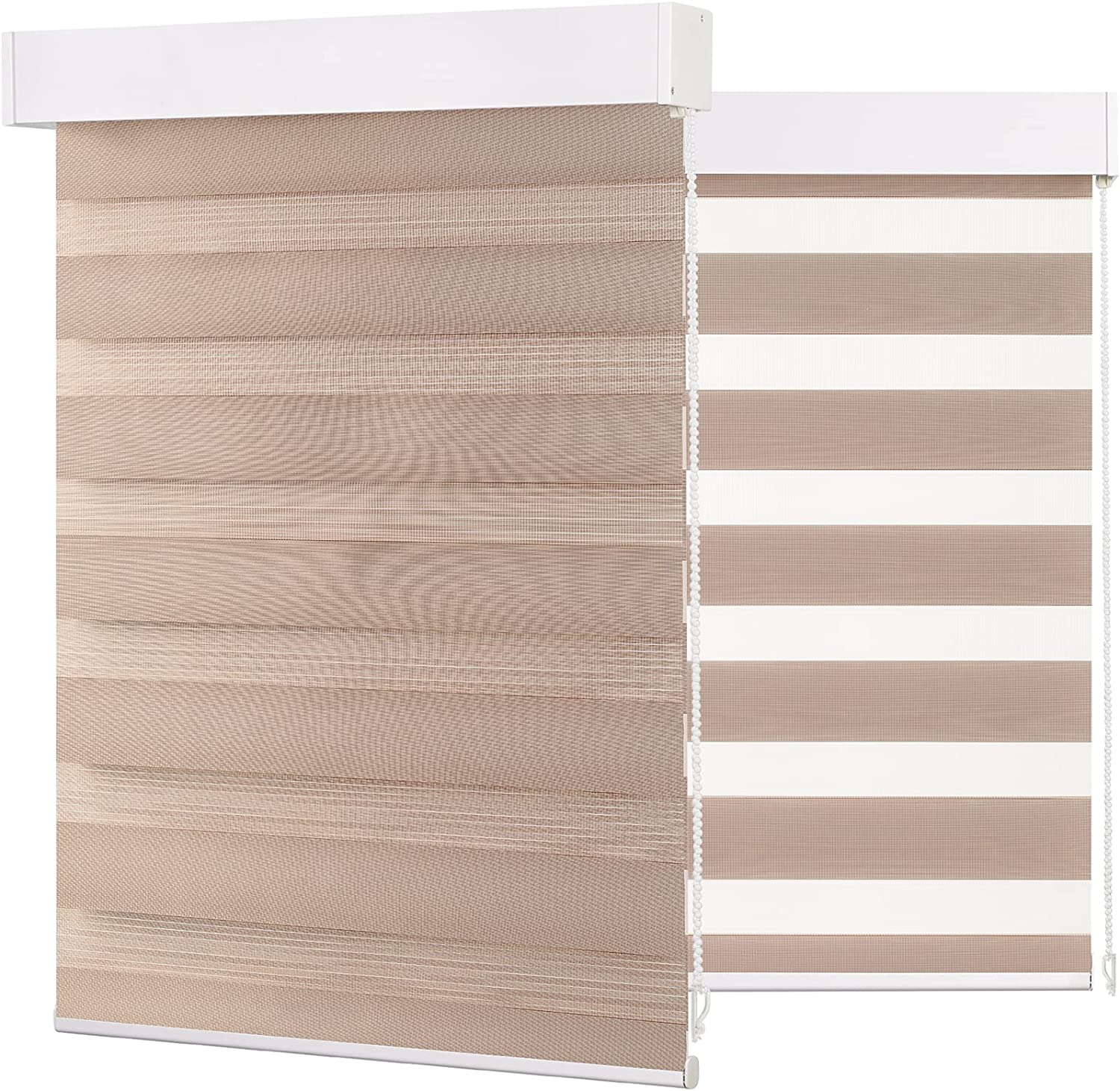 BERISSA Zebra Roller Blinds with Cheap mail order shopping Layer Shades Privac Window Dual Great interest