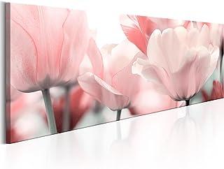murando Cuadro en Lienzo 120x40 1 Parte Impresión en Material Tejido no Tejido Impresión Artística Imagen Gráfica Decoracion de Pared - Flores Tulipan Rosa b-B-0083-b-a