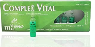 Mystic Complex Vital Ampoules For Hair Loss and Thinning - Regrowth Treatment With Biotin Bio-Complex and Tocopherol Pk.10 (each ampoule is 0.16 fl oz.) - Ampollas Para La Caida Del Cabello