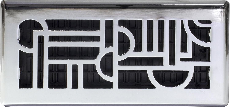 Decor Grates ADH410-NKL Floor Register, 4x10, Brushed Nickel - -