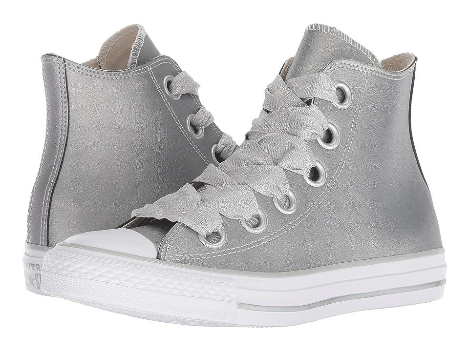 f6fc42b8692 Converse Chuck Taylor All Star Big Eyelets Heavy Metals Hi (Metallic  Silver Silver White) Women s Shoes