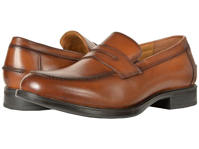 1940s Men's Shoes & Boots   Gangster, Spectator, Black and White Shoes Florsheim Midtown Penny Slip-On $99.95 AT vintagedancer.com