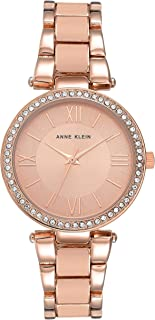 Anne Klein Womens Quartz Watch, Analog Display and Stainless Steel Strap AK-3014BHRG