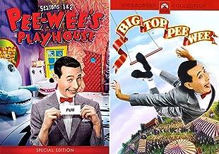 A Big Scream Pack Wacky Playhouse Episodes Season 1 & 2 + Big Top PeeWee Adventure Pee-Wee Herman - Zany Adventures DVD Bundle Tim Burton Movie & TV Series