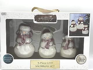3 PC LED Snowman Set