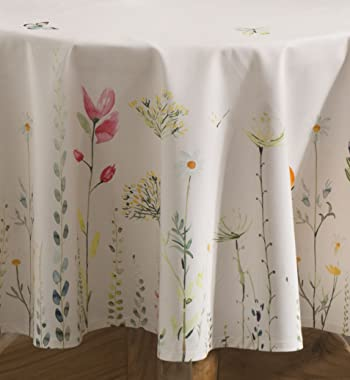 Maison d' Hermine Botanical Fresh 100% Cotton Tablecloth for Kitchen   Dining   Tabletop   Decoration   Parties   Wedding