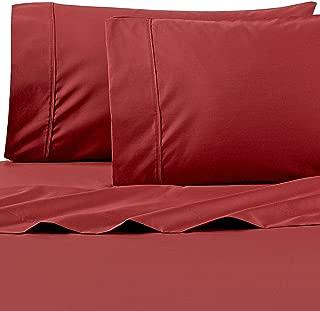 Wamsutta 625-Thread Count PimaCott King Sheet Set in Rust Red