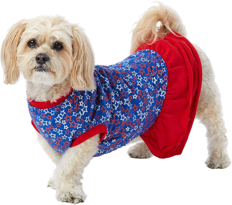 TOP PAW Max 49% OFF Americana Dog Spasm price Dress~X-Small~ Stars
