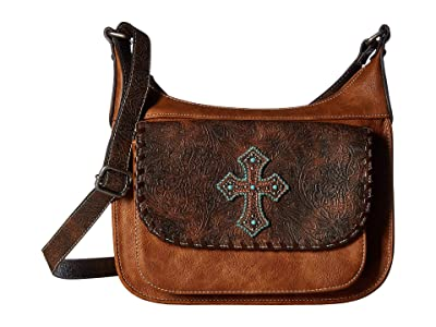 M&F Western Harper Conceal Carry Shoulder Bag (Medium Brown) Handbags