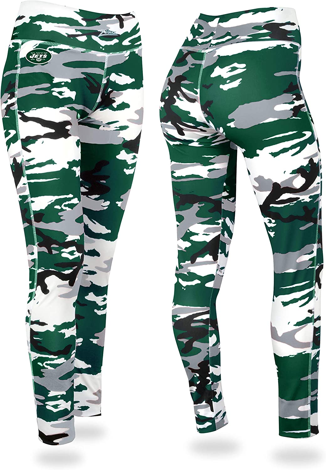 NFL New York Jets Max 44% OFF Women's Directly managed store Green White Camo Large Leggings