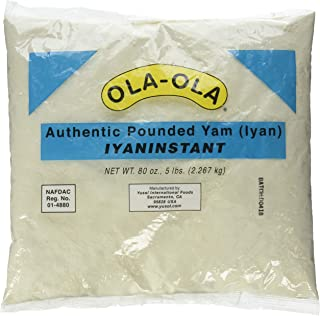 Ola Ola Authentic Pounded Yam Iyan Instant (5Lbs)