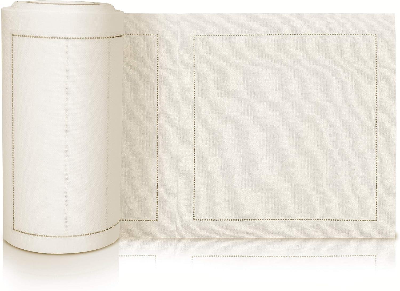 Amazon Com Linen Cocktail Size Napkins Cotton Cloth 50 Pieces 50 Cream Home Kitchen