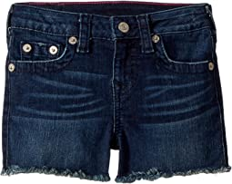 True Religion Kids Joey Raw Shorts in Ocean Blue (Toddler/Little Kids)