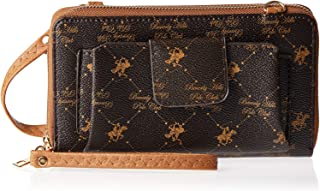 Beverly Hills Polo Club Wb292Zvabn Wristlet For Women - Leather, Brown