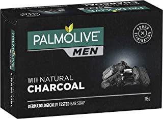 Palmolive Men with Natural Charcoal Dermatologically tested Bar Soap 115g, 115g
