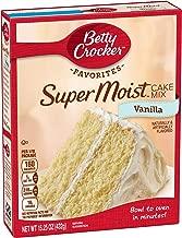 Betty Crocker Baking Mix, Super Moist Cake Mix, Vanilla, 15.25 Oz Box