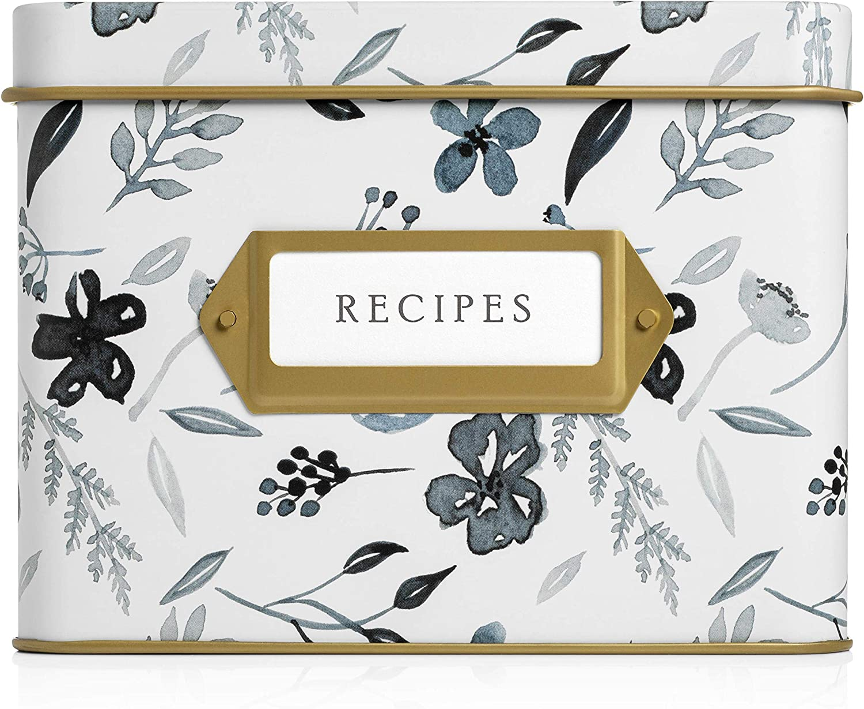 Jot Mark Decorative Tin for Recipe Indefinitely 2021 Cards 4 Hundreds Holds of