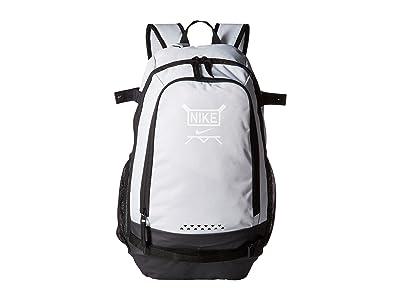 Nike Kids Vapor Clutch Bat Baseball Backpack (Pure Platinum/Black/White) Backpack Bags