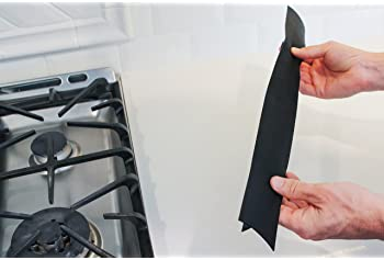 ST 449101 Silicone Crumb Guards and Stove Gap Cover, Black, 2 Pack