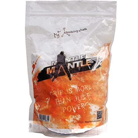 Mantle - Magnesite in Polvere 450 gr Chalk per Bouldering Crossfit Ginnastica Pole