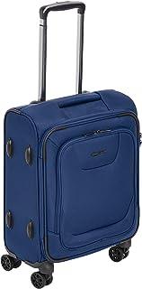 Amazon Basics Expandable Softside Carry-On Spinner Luggage Suitcase With TSA Lock And Wheels - 20.4 Inch, Blue