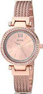 GUESS Womens Stainless Steel Casual Wire Bangle Bracelet Watch