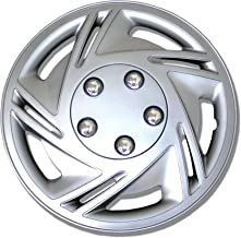 TuningPros WSC-602S14 Hubcaps Wheel Skin Cover 14-Inches Silver Set of 4