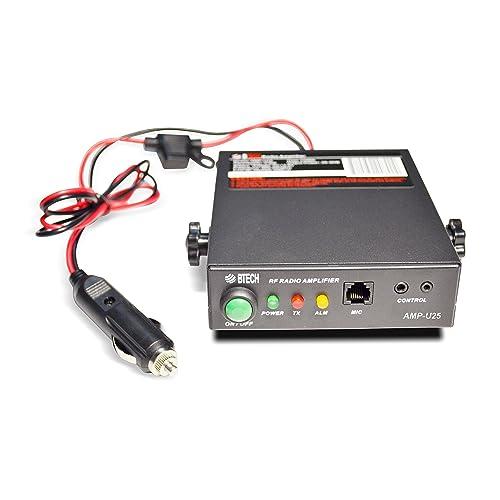 BTECH AMP-U25 Amplifier for UHF (400-480MHz), 20-40W Output (2-6W Input), Analog and Digital Modes, Compatible with All Handheld Radios: BTECH, BaoFeng, Kenwood, Yaesu, ICOM, Motorola