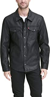 Men's Smooth Lamb Touch Faux Leather Shirt Jacket