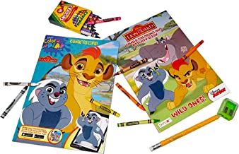 Lion Guard Coloring Book Bundle - 2 Coloring Books with 1 Pack of Crayola Crayons 16 ct. Plus Free Bonus 1 Jumbo Pencil and 1 Sharpener.