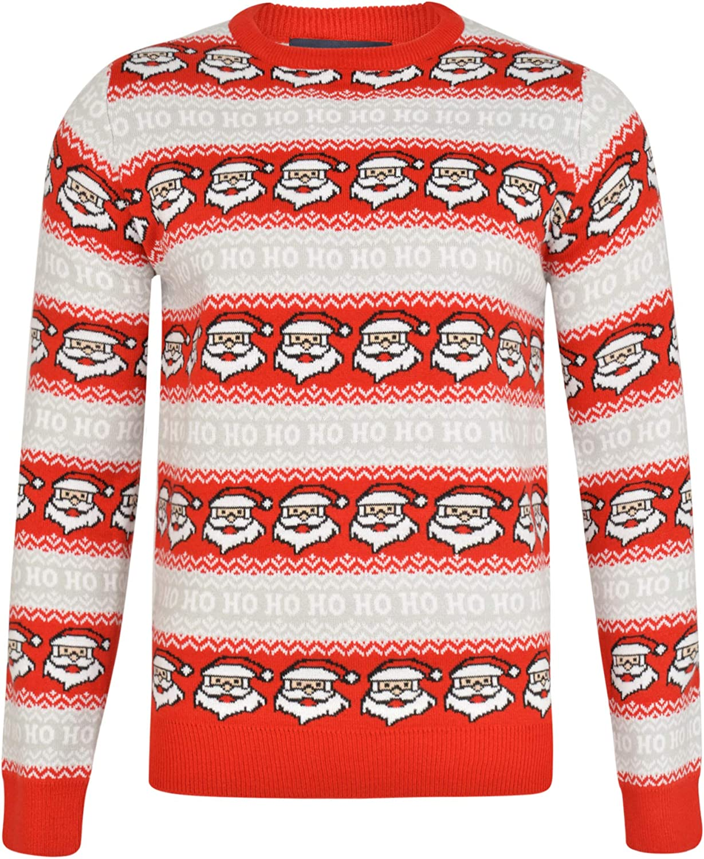 NOROZE Hommes No/ël Pull-Over Nouveaut/é Fair Isle Jumper Gros Tricot Xmas Pull pour Les Femmes Unisex Pullover