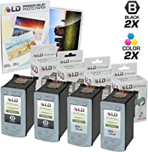 LD Remanufactured Ink Cartridge Replacement for Canon PG-40 & CL-41 (2 Black, 2 Color, 4-Pack)