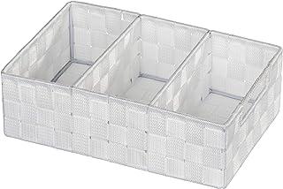 WENKO Organiseur de salle de bains Adria - avec poigné, 32 x 10 x 21 cm, Blanc