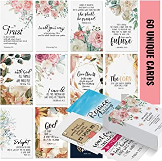 Prayer Cards - 60 Mini Scripture Cards with Assorted Bible Verses. Perfect for Women's Bible Studies, Daily Devotional for Women and Inspirational Christian Gift for Women by Dessie