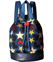 Stella McCartney Kids - Gardenia Star Drawstring Bucket Backpack