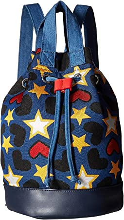 Gardenia Star Drawstring Bucket Backpack