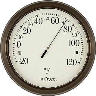 "Unknown La Crosse 104-108 8.5 Inch Analog Round Thermometer, 104-108, White, 8.5"""