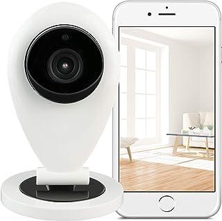 hikam S6: La cámara para una casa Segura (Cámara de seguridad con detección de persona Cámara IP HD con instrucciones en alemán Aplicación//Support)