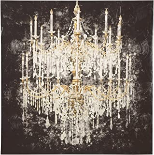 Ashley Furniture Signature Design - Donda Chandelier Wall Art - Contemporary Glam - Black/White/Gold Finish