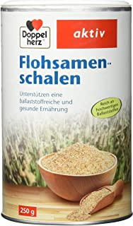 Doppelherz Flohsamenschalen – Ballaststoffreiche Nahrungsergänzung zur Unterstützung der Verdauung – geschmacksneutral – 250 g