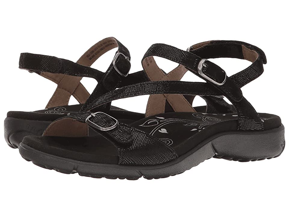 Taos Footwear Beauty (Black Printed Leather) Women
