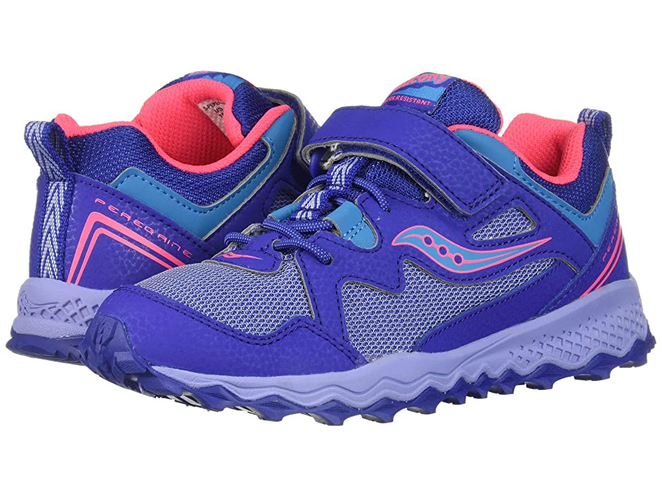 Saucony Kids Peregrine Shield 2 A/C (Little Kid/Big Kid) (Blue/Purple/Coral) Girls Shoes