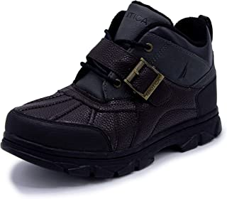 Nautica Men`s Grimstead Lace Up Buckle Duck Toe Winter Ankle Snow Boots