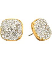 Kate Spade New York - Clay Pave Small Square Studs Earrings